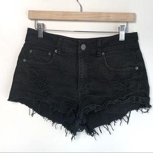 AEO Hi-Rise Festival Distressed Shorts, 6
